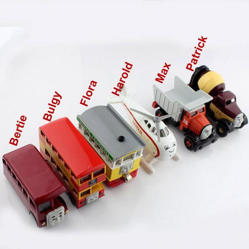 6pcs set Children Thomas and friends trains tank tomas mini dump trucks cars engine carriage diecast Magnetic metal toys boys(China (Mainland))