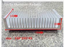1 PCS nhôm hệ thống hồ sơ/150 (L) * 195 (W) * 45 (H). Suất cao nhôm tản nhiệt-fan amplifier dẫn nhôm nguyên chất tản nhiệt