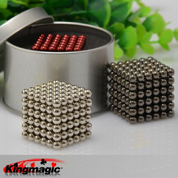 Hot Selling Buckyballs Neocube 5mm Neo Cube Magic toy Puzzle Magnet Block Magnetic Balls Education Toys +metal Box+bag+card(China (Mainland))