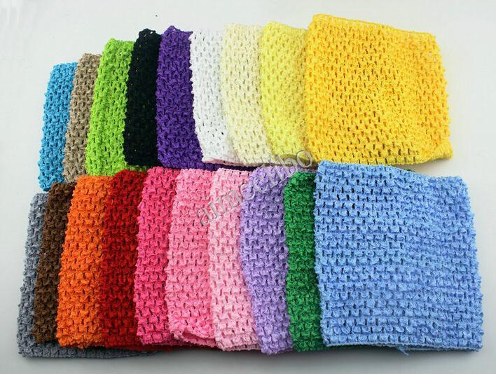 10pcs/lot Free Shipping Solid Color Kids Elastic Headbands Toddler Crochet Waffle String Tutu Tube Baby Tops(China (Mainland))