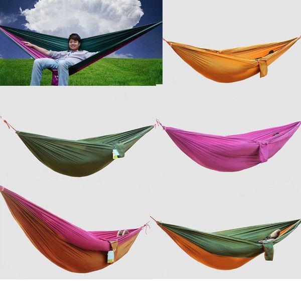 1 Piece  Match work Parachute Cloth Camping Survival Double Wide Spreader Outdoor Indoor Hammock H1238<br><br>Aliexpress