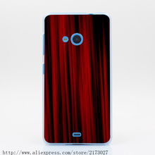 2358Y Texture Red Curtains Hard Case Transparent Cover for Nokia Microsoft Lumia 535 630 640 640XL 730(China (Mainland))
