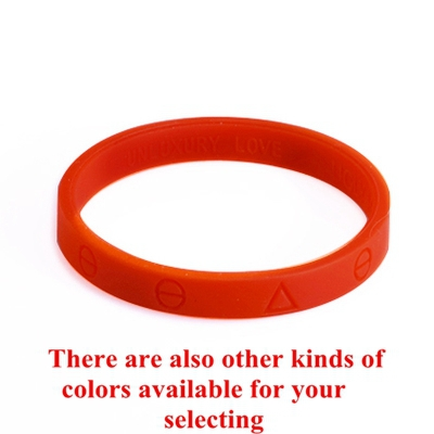 Retailing Fashion Unisex Vintage Rubber Bracelet Red Unluxury Love Silicone Band Charm Bracelet Free Shipping With Opp Bag(China (Mainland))