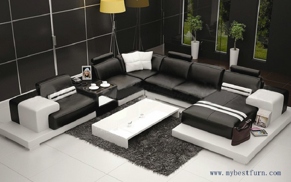 Combination Elegant Modern sofa, Large size Luxury fashion style, best