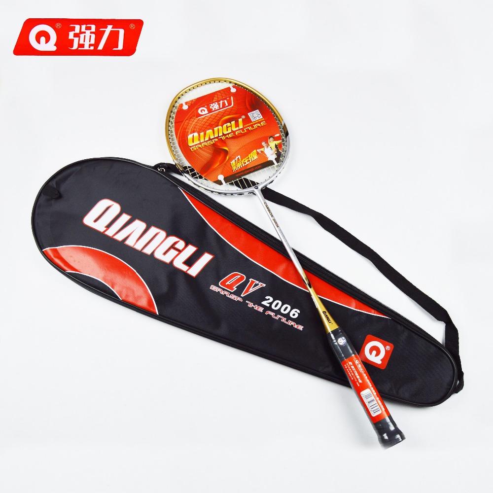 Authentic Qiangli2006 badminton racket Integrally molded badminton badminton rackets Carbon Fiber Grip raquette badminton(China (Mainland))
