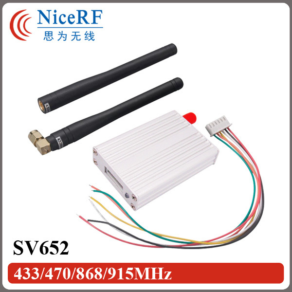 2pcs 500mW 433MHz RS485 Interface Wireless RF module SV652+ 2pcs Rubber Antenna For Free Shipping(China (Mainland))