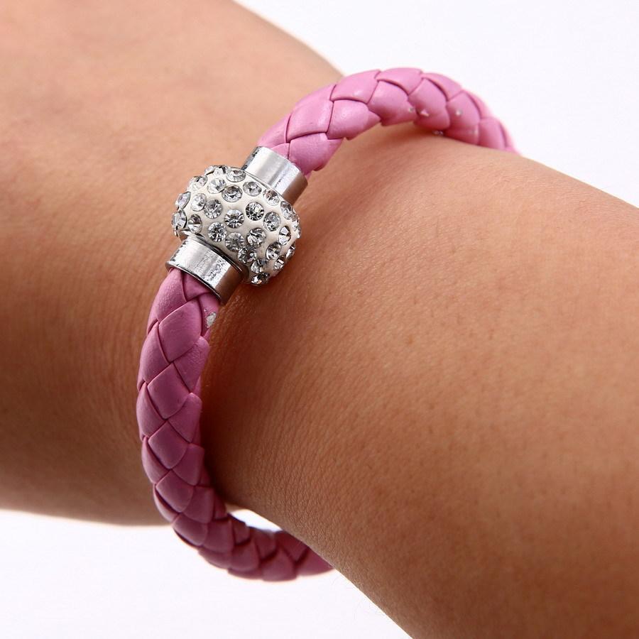 Новинка магнитного пряжки ну вечеринку браслет панк красочный браслет разработанный горный хрусталь браслет конфеты цвет браслет с кристалл