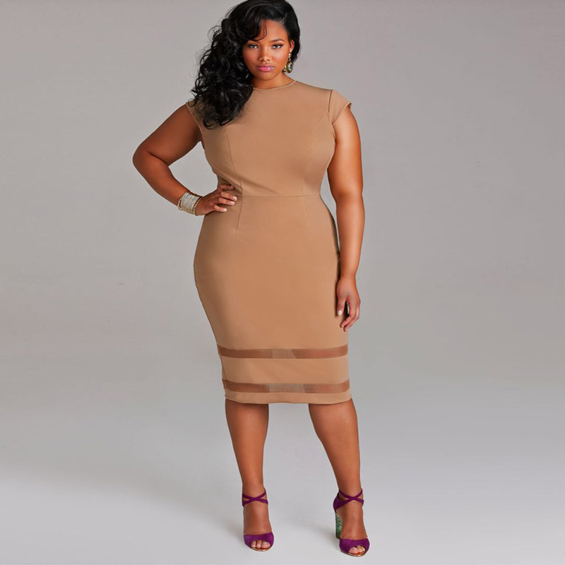 2017 Hot Sale High Quality Large Size Sexy Casual Office Party Night Club Spring Summer Women Dress Plus Size Clothing A0131(China (Mainland))