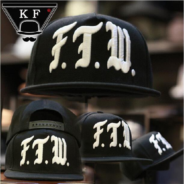 2016 New Fashion FTW Letters Embroidery Dance Hip hop Hats Skateboard Baseball Caps Bones Toucas Men Women Gorras Snapbacks - BIVIGAOS Trend Store store