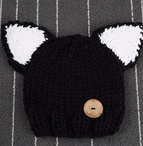Newest lovely cat ears children wool hat autumn and winter fashion warm hand knitting hat scarf two piece set crochet hat