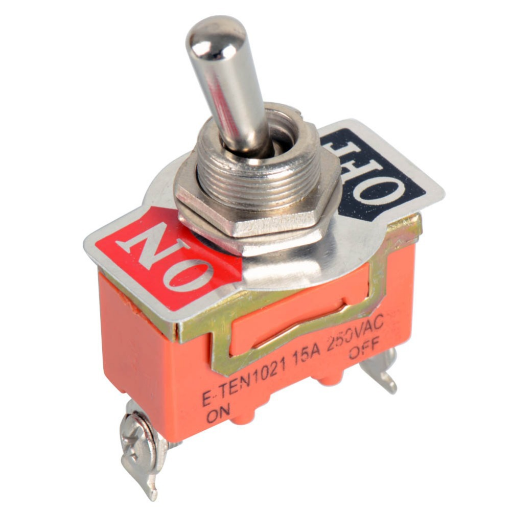 High quality 1pc New High Quality 15A 250V SPST 2 Terminal ON OFF Toggle Switch VE186