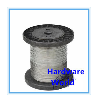 out diameter 1mm 7*7 100M plastic covered coated stainless steel 18-8 A2 SS304 clothesline wire rope(China (Mainland))