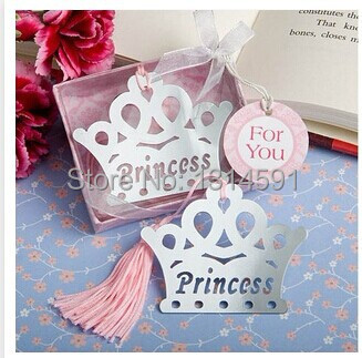 30 pcs/lot High Quality Baby Shower Favor Gifts Silver Princess Crown Wedding Party Favors Bookmark cheap Souvenirs casamento(China (Mainland))