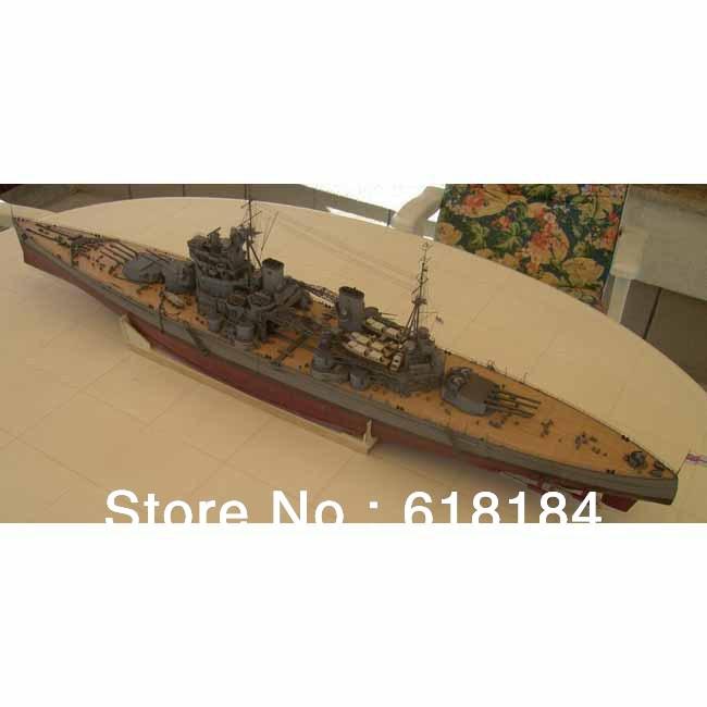 Free shipment paper ships model 1.2 meter Long 1:200 A3 paper World War II British battleship King George V warship 3d puzzles(China (Mainland))
