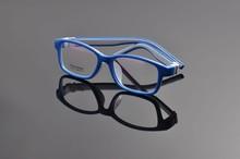 Kids Safe Material Unbreakable Silicone Anti-slip Clear Lens Glasses Boy Girl Children Eyewear Frame Size 49-15-130mm V061