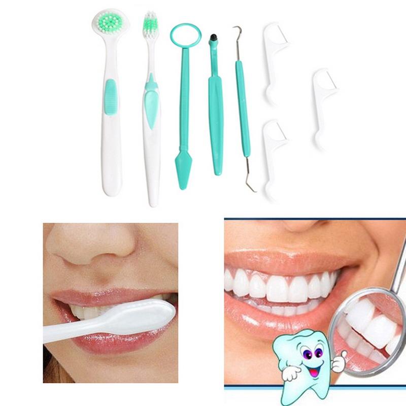 Frete grátis delicado de família de 8 pçs/set Oral Dental escova de dentes escova de limpeza Kit de produtos de higiene GUB #