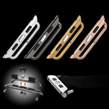 De calidad superior sin costuras de aluminio del Metal correa adaptador de conector para Apple relojes 38 mm y 42 mm correa de la venda de enlazador para iwatch