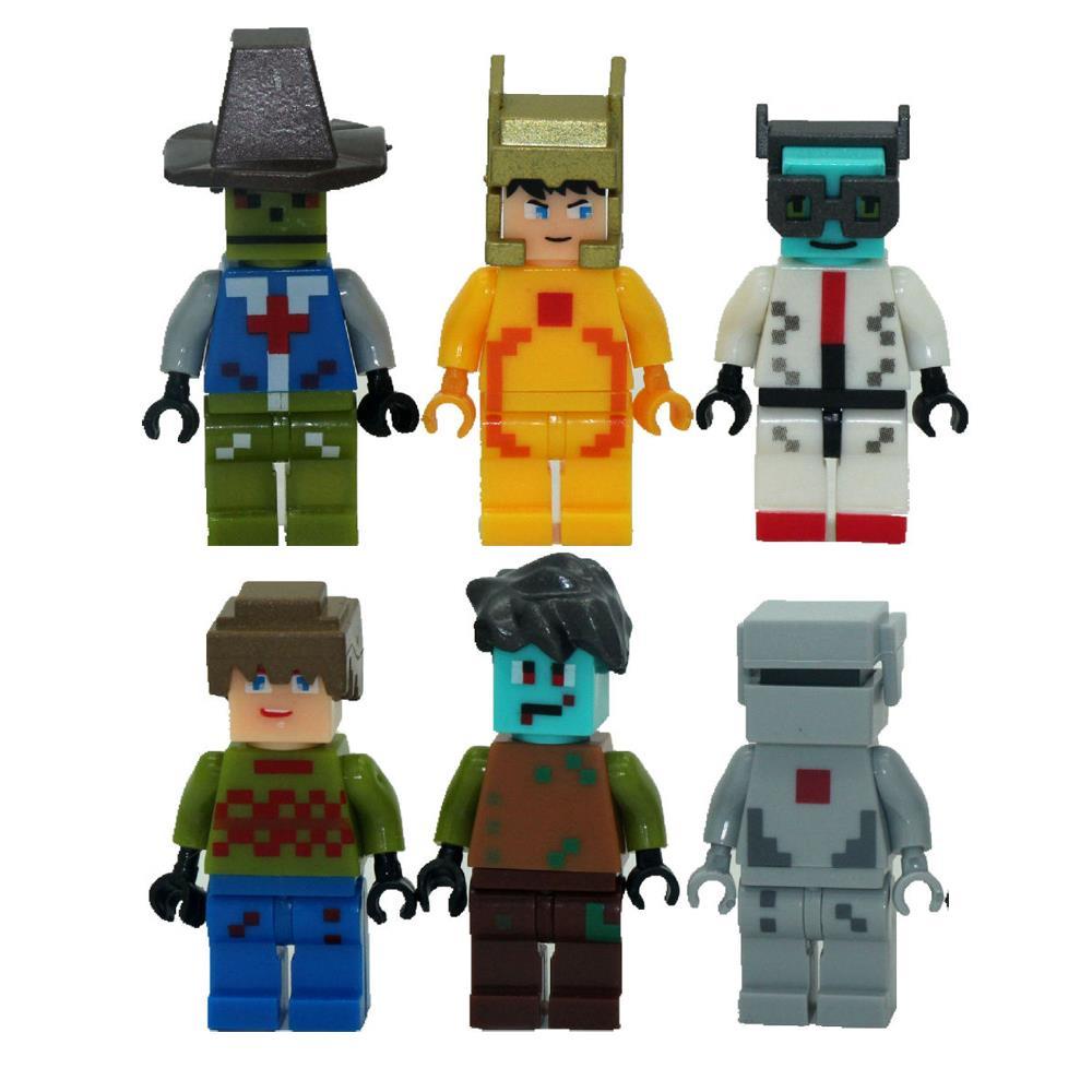 Гаджет  6pcs/lot Game Minecraft Kid Baby Toy Mini Figure Building Blocks Sets Model Toys Minifigures Brick #SSJR12380 None Игрушки и Хобби