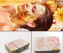 100PCS Gold Foil Mask Sheets Spa 24K Gold Face Mask Sheet Thailand Beauty Salon Equipment Anti-Wrinkle Lift FaceBeauty Care