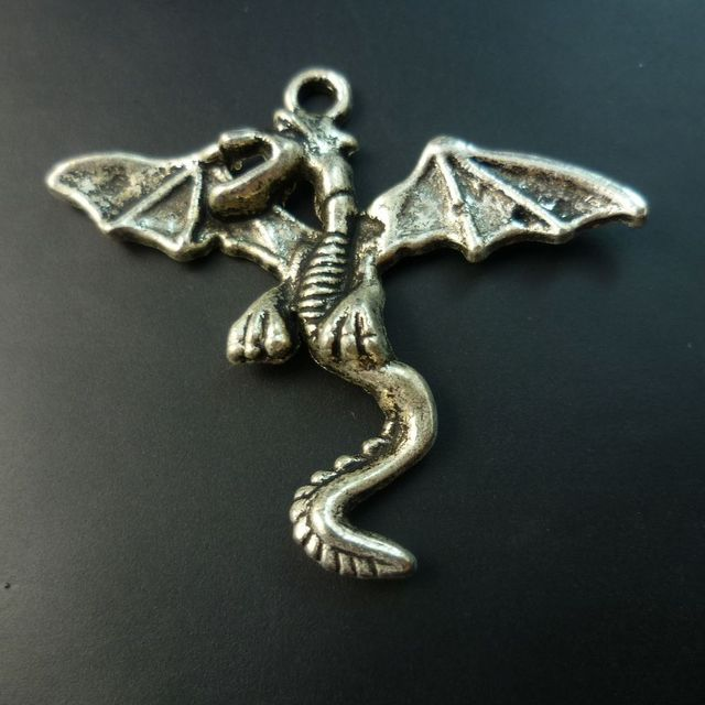 80 pcs/lot Dragon tibet silver floating charms pendants Free shipping