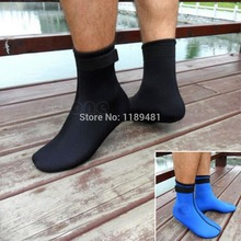 Free Shipping Neoprene 3mm Water Sports Swimming Scuba Diving Surfing Socks Snorkeling Boots(China (Mainland))