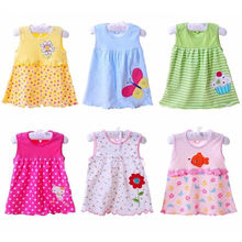 Free shipping Baby Dresses Princess Girls Dress 0-1years Cotton Clothing Dress Summer Clothes For Girl(China (Mainland))