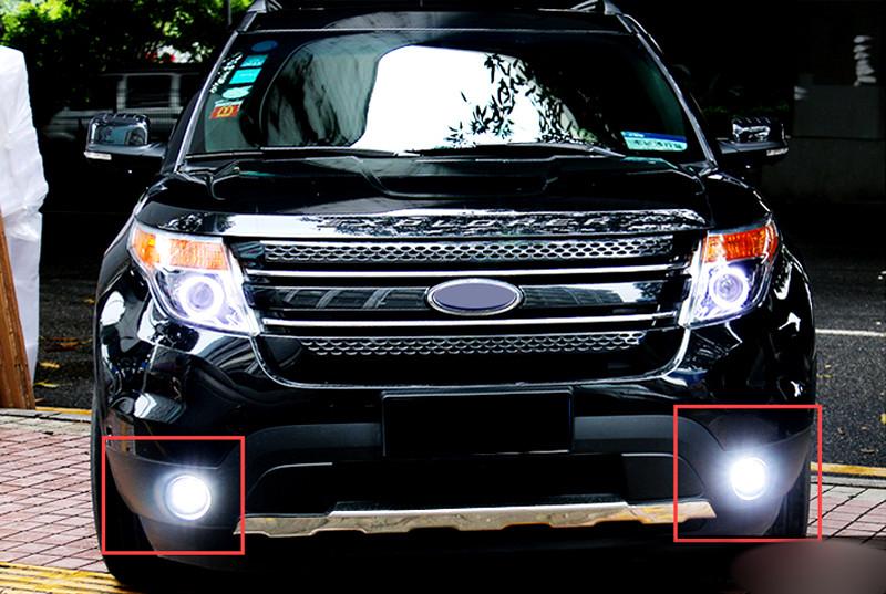 2PCS   LED  Front  Head  Fog Light lamp  for  Ford Explorer 2011-2014