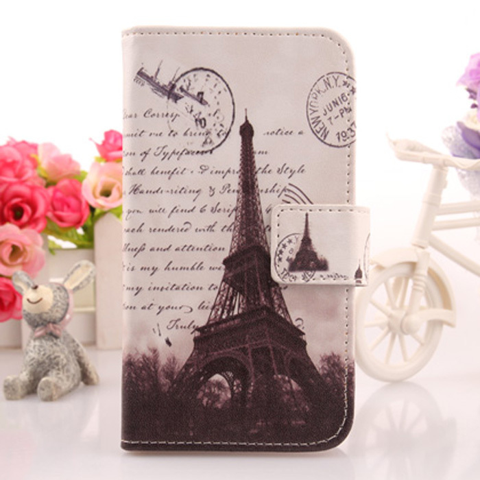 Colored Drawing Accessories Card Holder Flip Design PU Leather Cover Protective Case For ZOPO C3(China (Mainland))