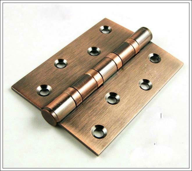 Free Shipping, Antique Copper Finished 304 Stainless Steel Hinges, Door hinge,Antique wood Door Hinge 4inch*3inch*3mm,Low noise(China (Mainland))