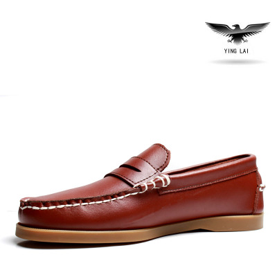 Genuine Leather Mens Sneakers Casual Spring/Autumn Fashion Mens Loafers Shoes Moccasins for Man Flat Driving Boat Shoes Sneakers