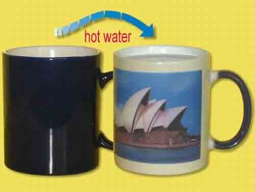 Free Shipping Ceramic Colour Change Mug,