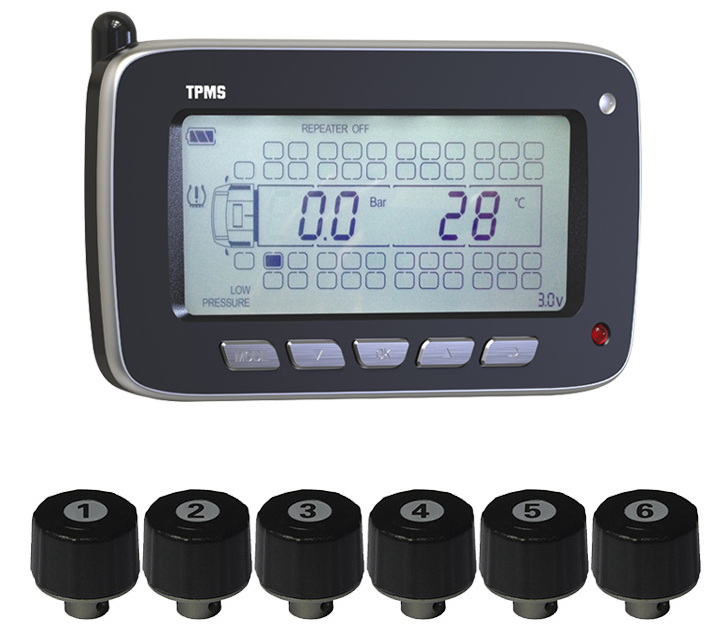 Tire Pressure Monitoring System for Passenger Vehicle Truck & bus External Sensors Car Security System
