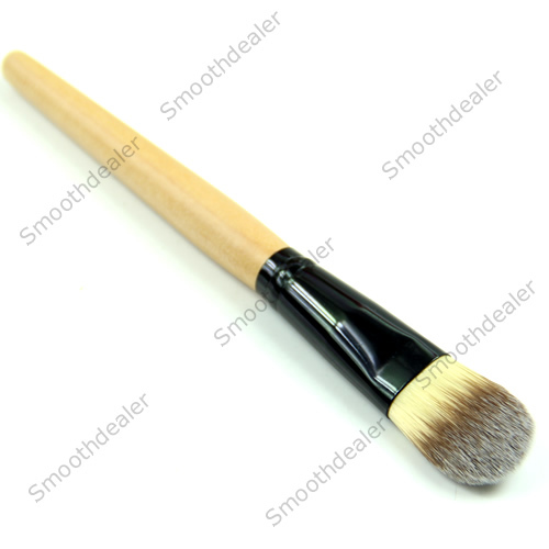 Bamboo Handle Smooth Fiber Hair Makeup Wet Powder Foundation Brush Beauty Tool Free Shipping