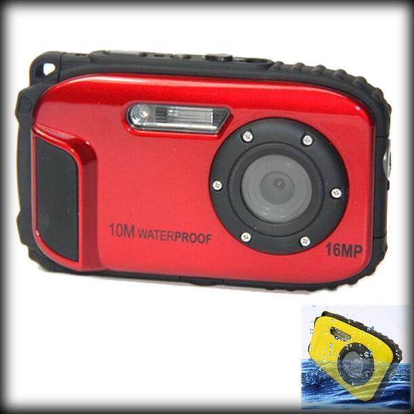 "by dhl or ems 100pcs 16MP Waterproof Digital Camera 10m Waterproof 8x Digital Zoom Wholesale Digital Video Camcorder 2.7""TFT LCD"