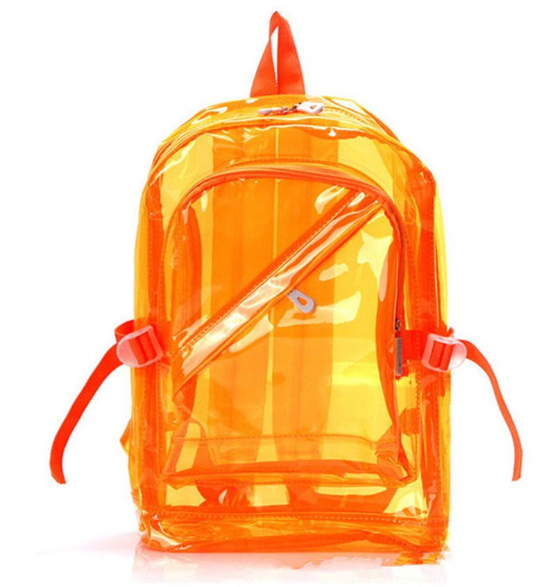 High Quality Men&Women Transparent Clear Plastic Backpack Waterproof Backpack For Teenager School Bags HBE54 (4)
