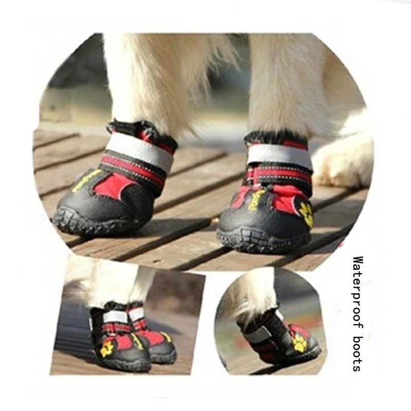 4pcs/set Pet Shoes Outdoor Sport Antiskid Shoes Protect Waterproof Boots Dog Shoes Footwear Pet Products JK872937(China (Mainland))