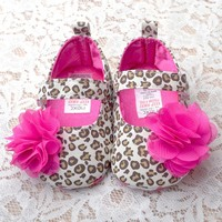 Free Shipping Lovely Baby Shoes 2015 Fashion Flowers Leopard Newborn Shoes Brand Soft-Soled 11CM 12CM 13CM Better Quality 1113
