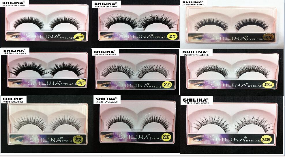 Vente! Shilina nombreux styles faux cils 1 par main faux cils doux naturel à Long cils Extension de maquillage professionnel(China (Mainland))