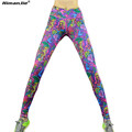 Himanjie 2016 Sports Printed Pants High Waisted High elastic Leggings for Professional Running Workout Fitness Yoga