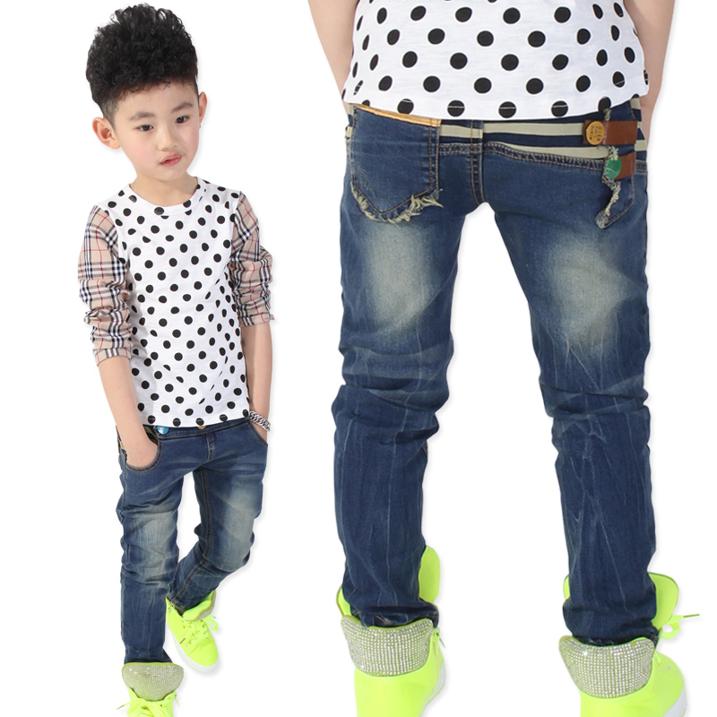 Children's clothing male child trousers 2014 spring casual pants jeans - Caiba fashion store