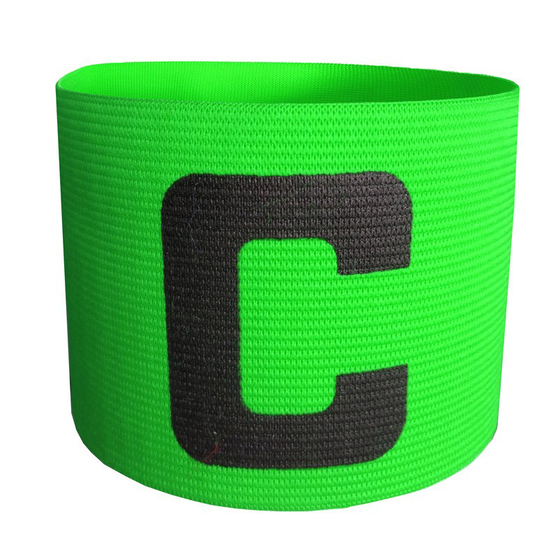 New Armband Football Basketball Soccer Sports C Words Flexible Adjustable Player Bands Badge Captain Armband 4 Color(China (Mainland))