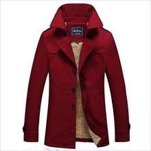 Новый зимнее пальто мужской длинный отрезок мужская ветровка хлопок промывают мужские куртки плюс толстый бархат большой ярдов твердые цвет мода(China (Mainland))