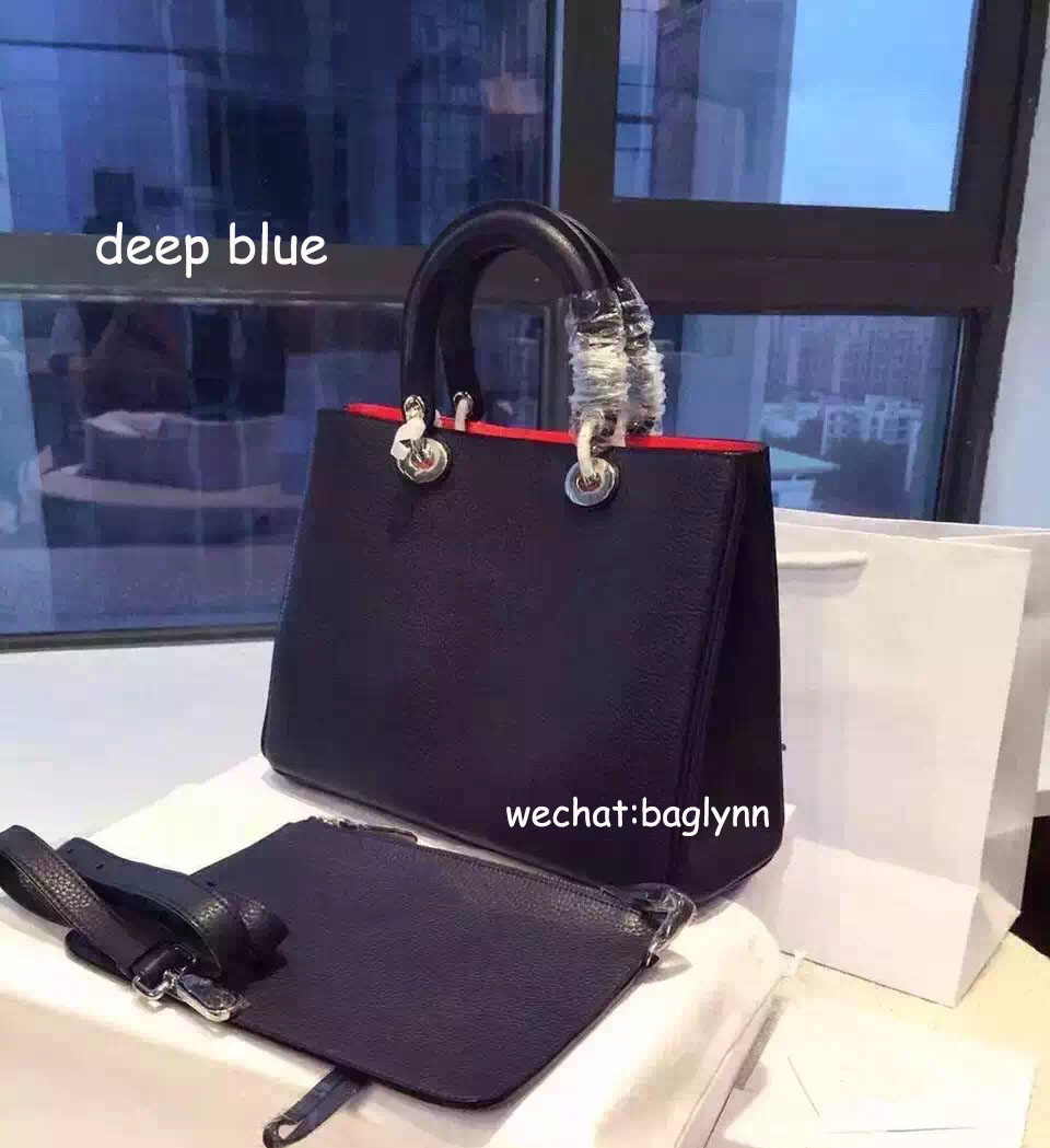 Women Large Bags 100% Genuine Leather Calfskin Lining Lambskin 10Colors Top Quality Handmade(China (Mainland))
