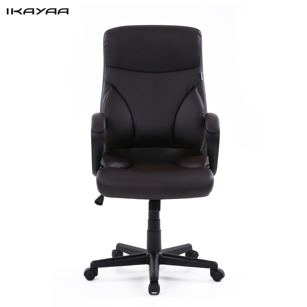 US Stock IKAYAA Dxracer PU Leather Adjustable Swivel Office Executive Chair Stool High Back Computer Chair Task Office Furniture(China (Mainland))