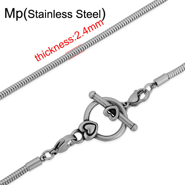 20pcs/lot Weight Stainless Steel Womens Elegant Snake Necklace Chain OT Clasp Chic Fashion Jewelry Jewel <br><br>Aliexpress