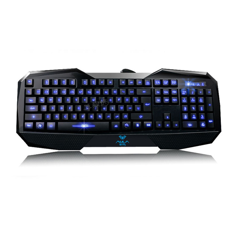 LED Illuminated Ergonomic USB Multimedia Blue Backlight Backlit Game Keyboard - fashiontop store