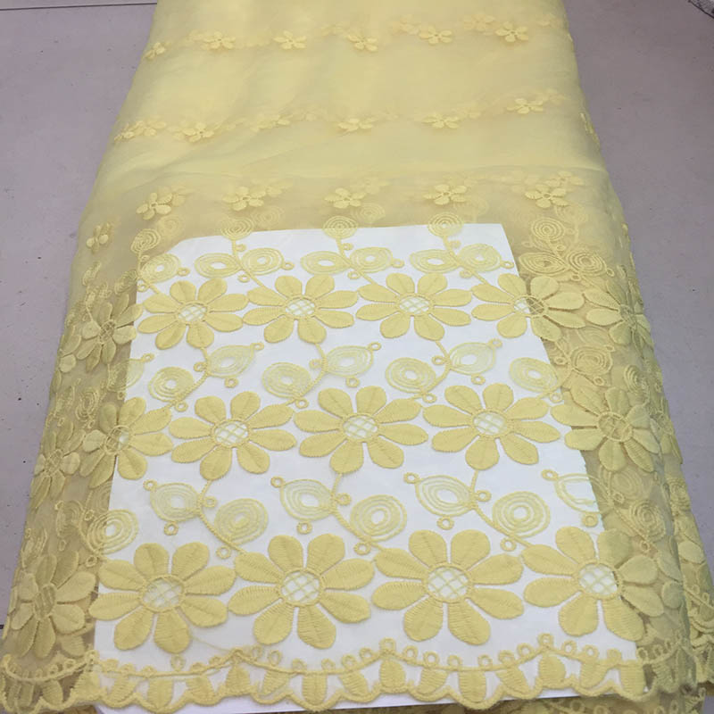 Buy 2016 fashion organza lace fabric for Wedding dress fabric stores