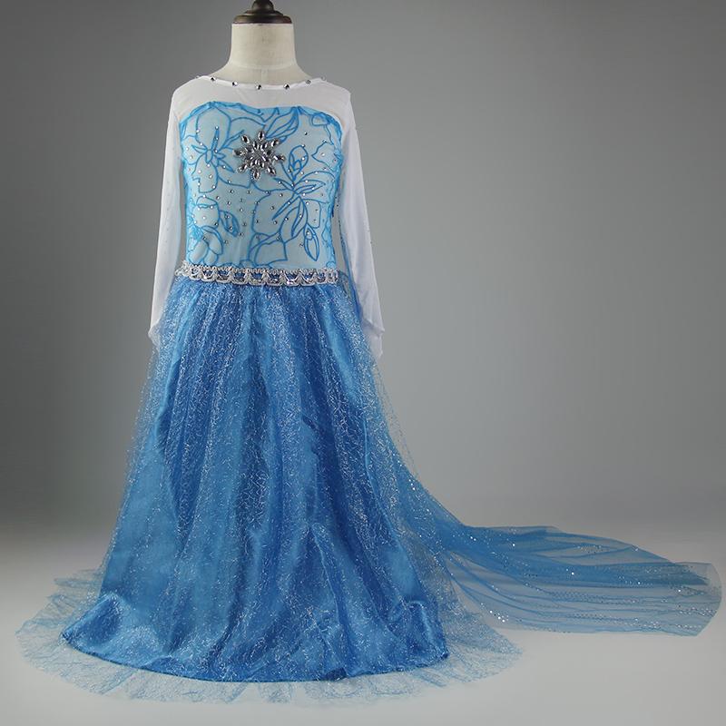Гаджет  2015 Fever Elsa Anna Removable Mesh Dress Kids Girls Cosplay Costume Snow Queen Princess Dresses Baby Clothes Fantasia Infantis  None Детские товары