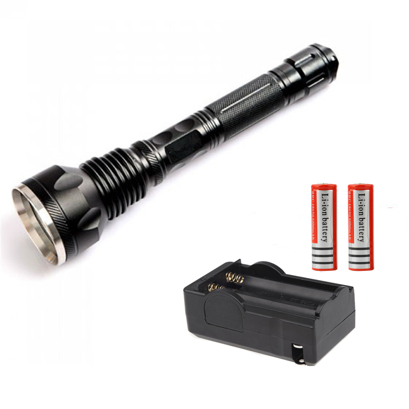 3 CREE XML-T6 LED Flashlight 4000 lumens torch light use 2*18650 linternas frontales cabeza + 2*18650 Battery + Charger<br><br>Aliexpress