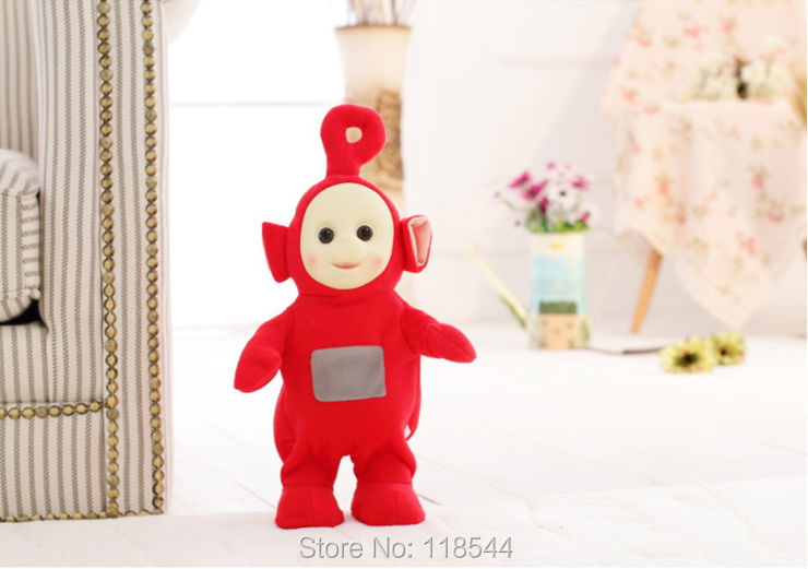 35cm BBC teletubbies plush doll stuffed soft children's teletubby toy best gift for birthday one piece free shipping(China (Mainland))